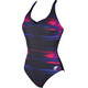 arena Kate Light Cross Back C-Cup One Piece Swimsuit Women rose violet-navy